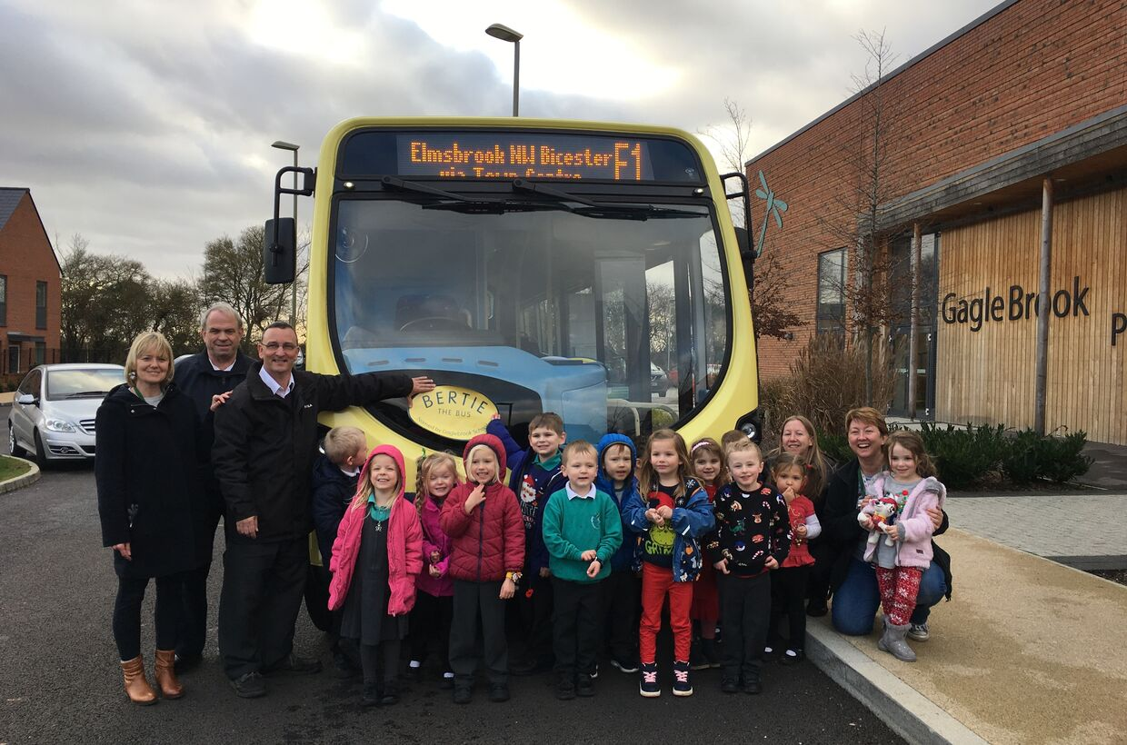 Gagle Brook Hosts the Bertie Bus Naming Ceremony